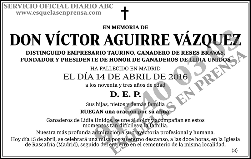 Víctor Aguirre Vázquez